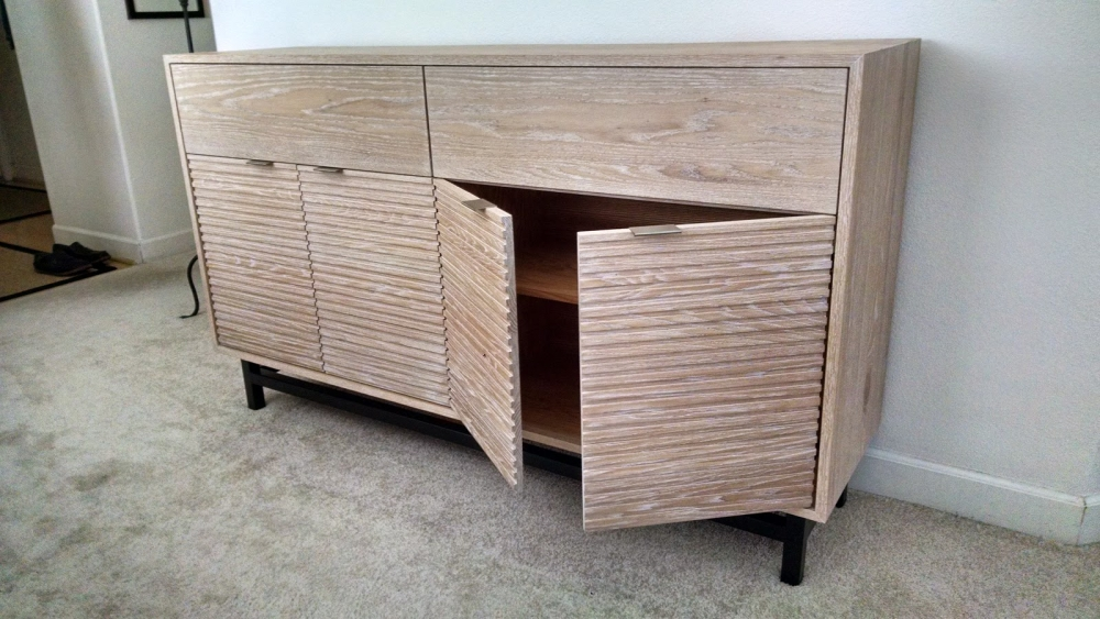 custom furniture maker credenza oak