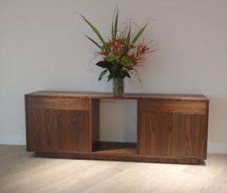 custom furniture maker credenza walnut