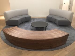 custom furniture maker walnut bench