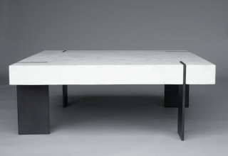 custom furniture maker coffee table concrete
